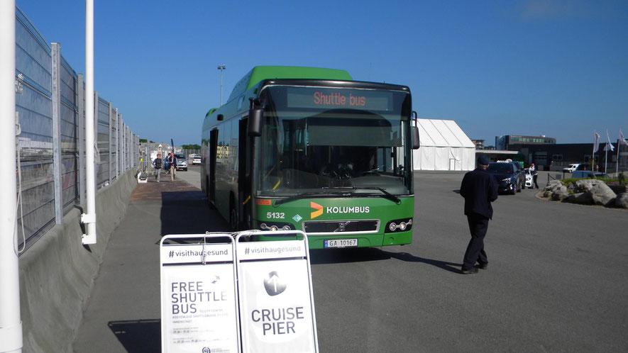 Shuttle-Bus vom Hafen in die Stadt