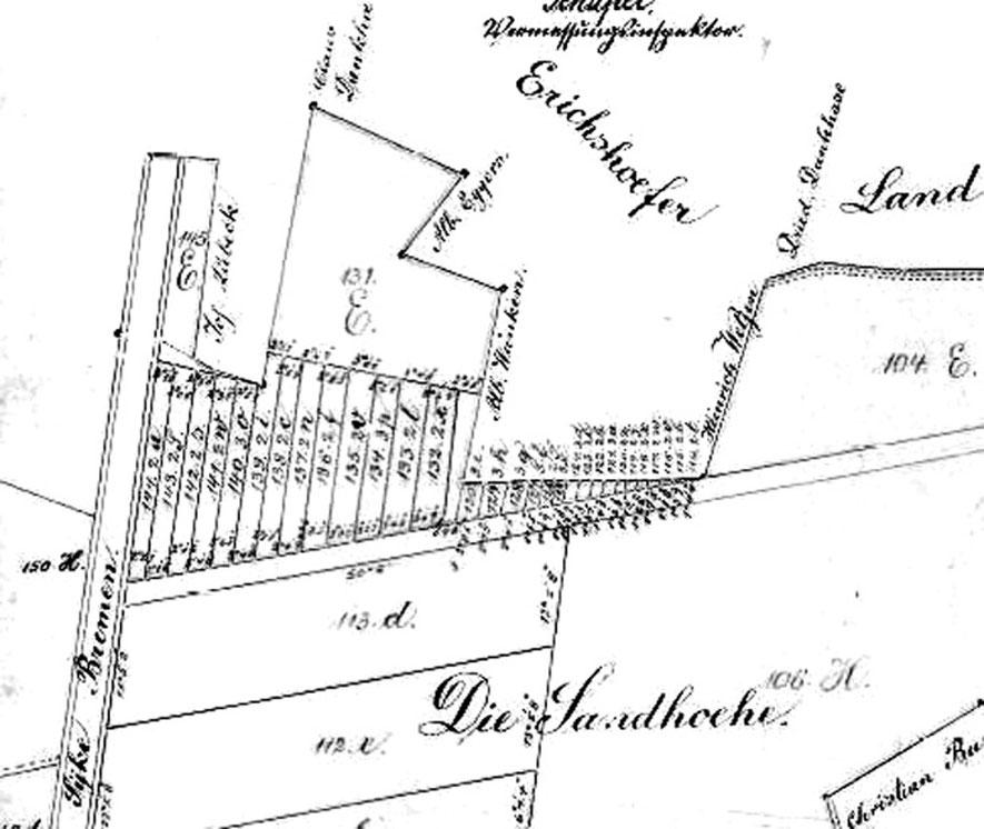 Kopie der Karte von 1828 (aus dem Jahr 1928)