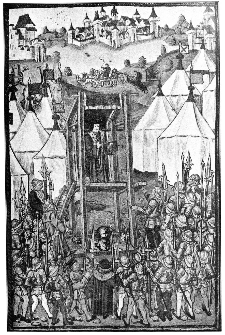 Beilage 3. Feldpredigt im Burgundischen Heer. Miniatur aus Diebold Schilling, Schweizerchronik. Handschirft 1484. Luzern, Bürgerbibliothek.