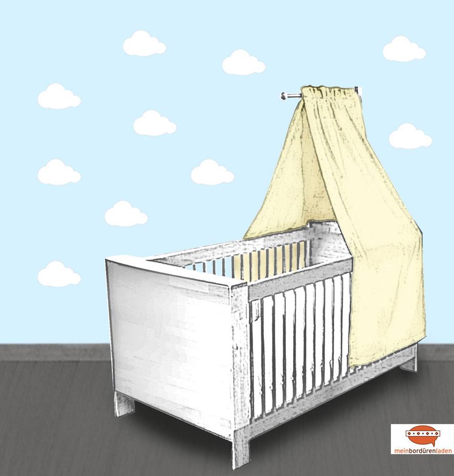 Wandtattoo - Set für Kinderzimmer - kleine weiße Wolken