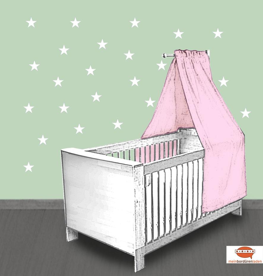 Wandtattoo - Set für Kinderzimmer - kleine weiße Sternchen