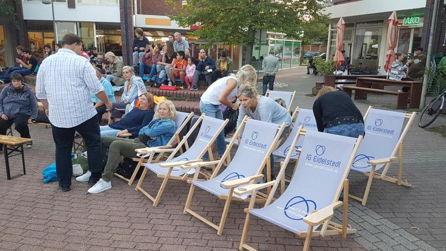 Das OpenAir-Kino in Eidelstedt