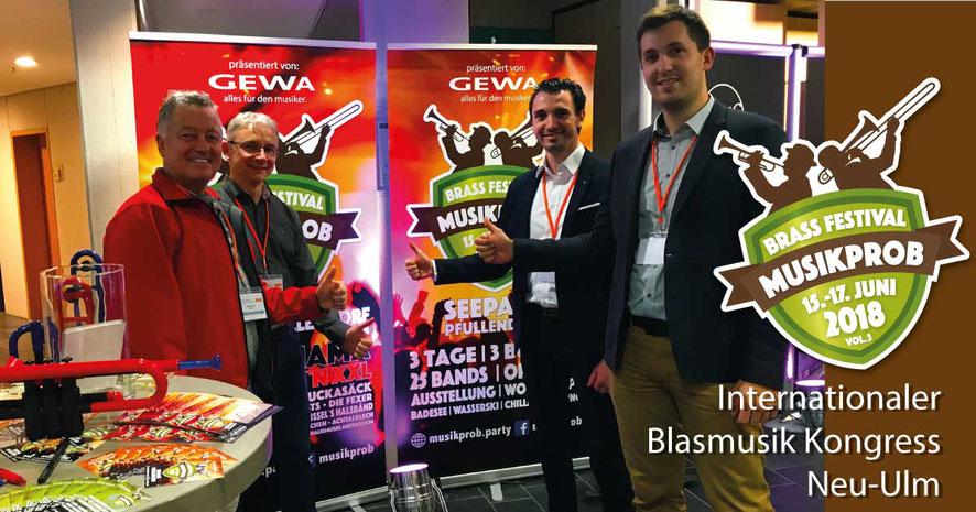 GEWA music und MUSIKPROB auf dem internationalen Blasmusik Kongress in Neu-Ulm