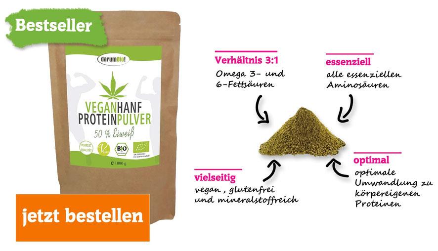 bestseller veganhanf proteinpulver