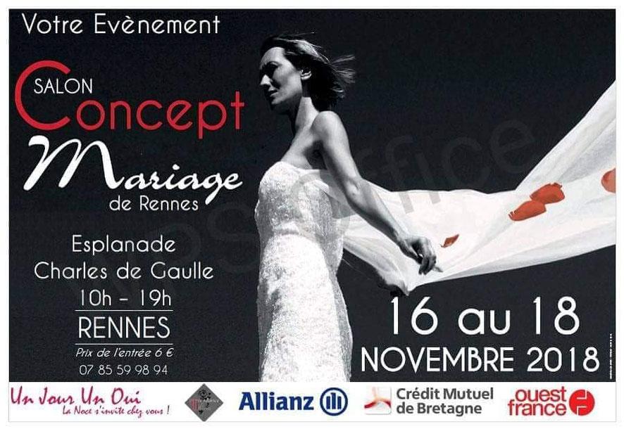 Salon Concept Mariage à Rennes les 16, 17 et 18 Novembre 2018