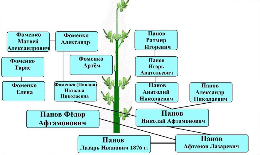 Древо рода Пановых