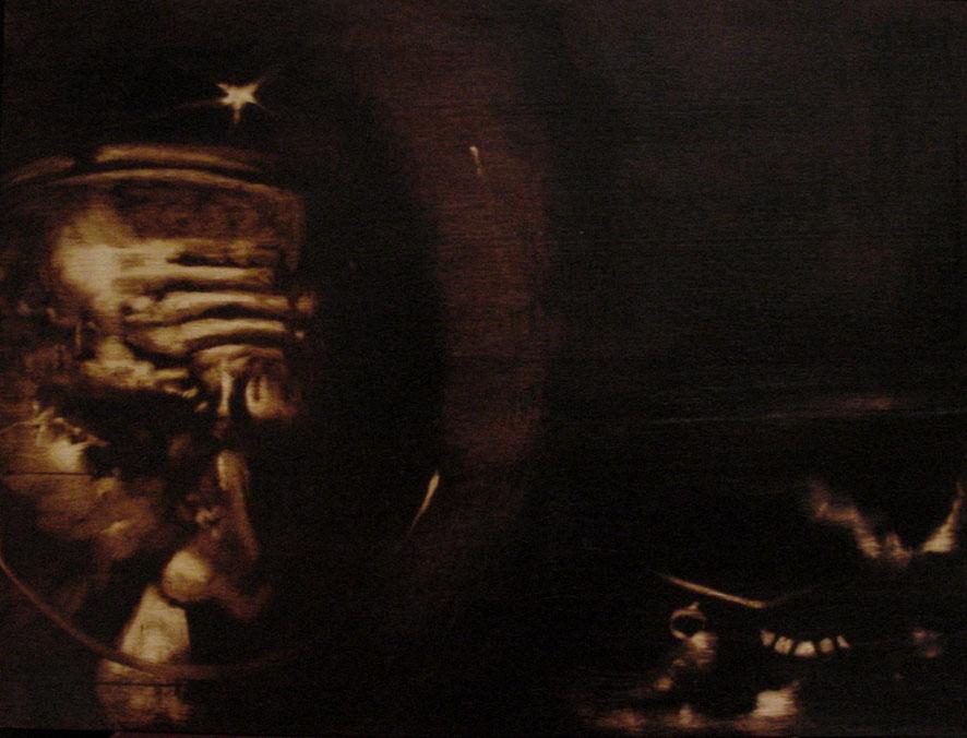 """""""Silent distance"""" (2009) olio su legno, cm(30 x 40)"""