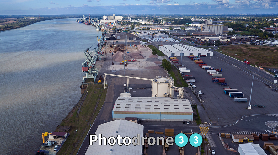 Photographie aérienne pour l'industrie Bordeaux Gironde