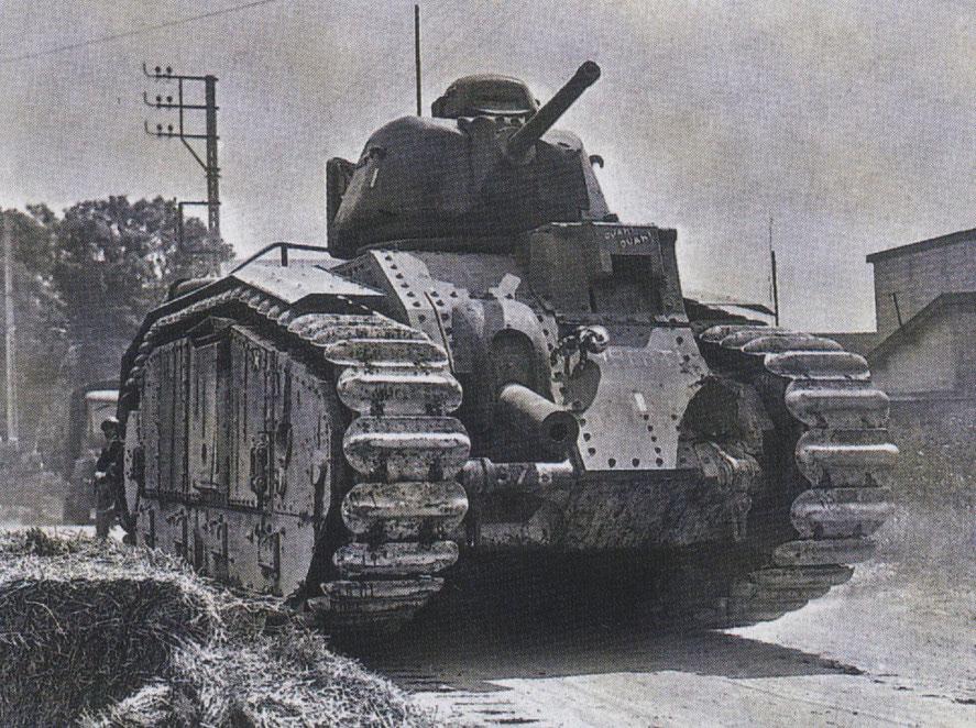 La France est précurseur dans le domaine des chars de combat avec notamment son B1 Bis