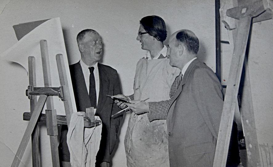 Oskar Kokoschka und Roland Ladwig, Salzburg 1959