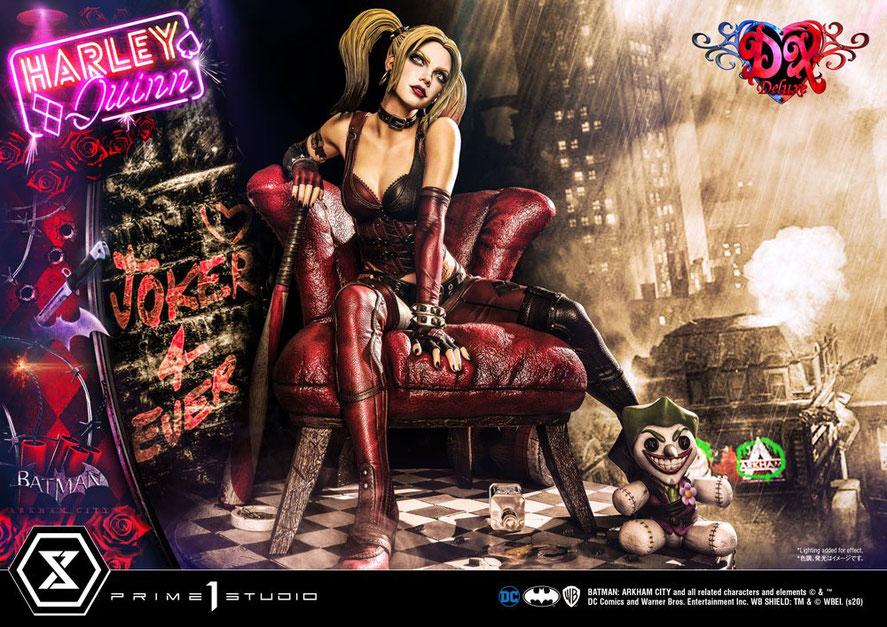 Harley Quinn Deluxe Bonus Version 1/3 DC Batman Arkham City Video Game Statue 58cm Prime 1 Studio