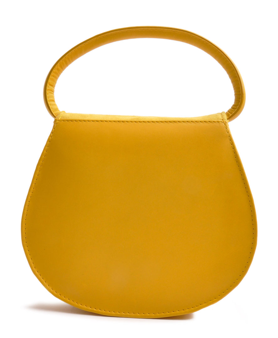HENRIETTE Dirndltasche gelb Handarbeit Ledermanufaktur OSTWALD Traditional Craft