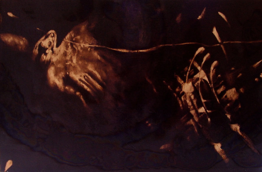 """""""Struttura"""" (2009) olio su legno, cm (30 x 46,6)"""