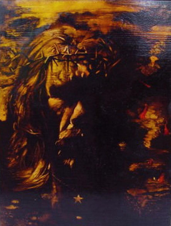 """Gesù gesù...""  (2009) olio su legno, cm (39 x 29,8)"