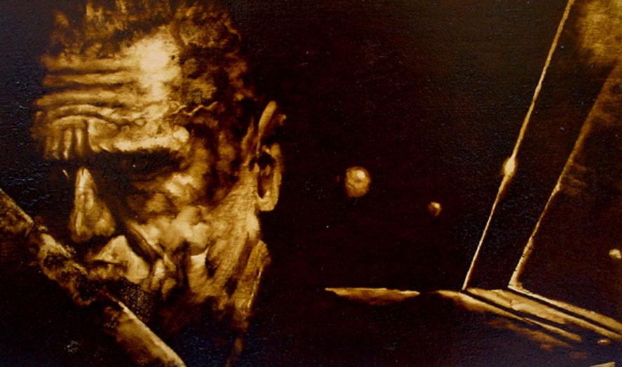 """""""La spia perduta"""" (2009) olio su legno, cm (30 x 50)"""