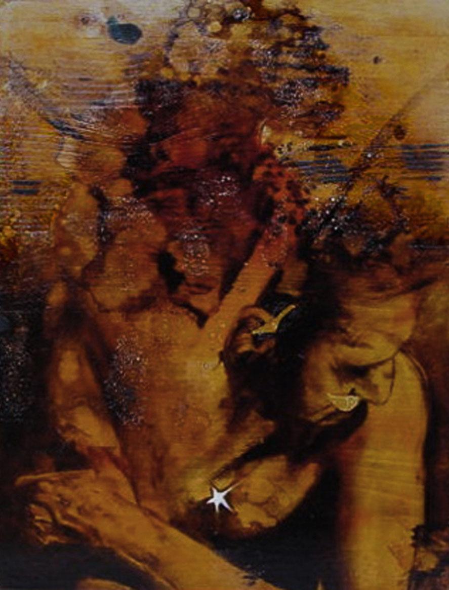 """""""Che cazzo di storia...""""  (2009) olio su legno, (39,6 x 30)"""