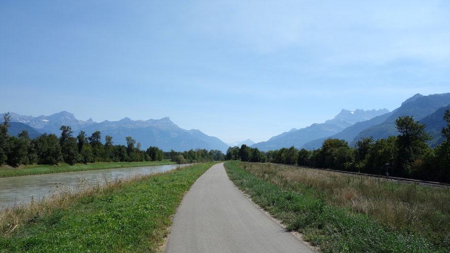 Berghuhn.de, Rhône, Martigny, Schweiz