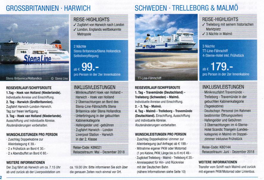 Schnupper und Kurzkreuzfahrten Singer reisen Hamburg