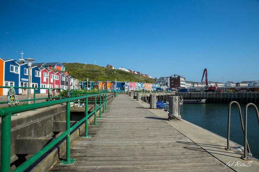 Die farbenfrohen Hummerbuden am Hafen
