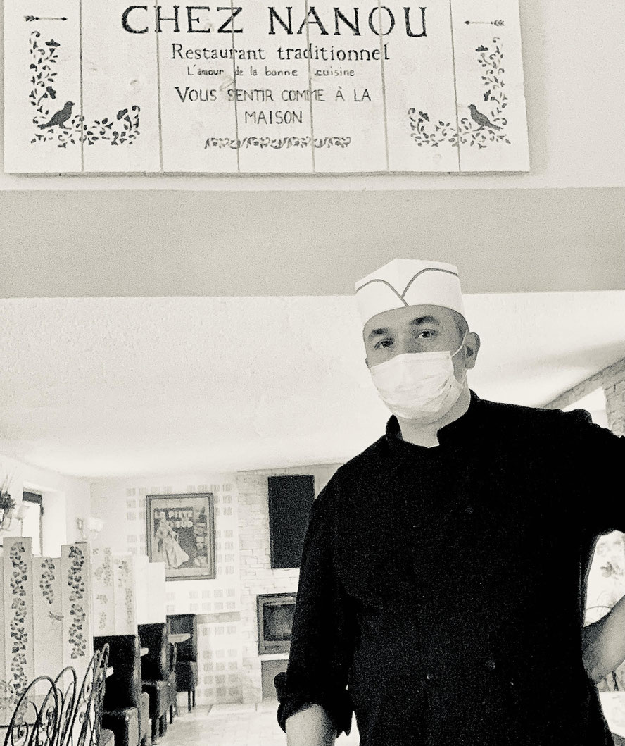 """Jérôme Legrand est à la tête du restaurant """"Chez Nanou"""" à Mézy-Moulins dans le Sud de l'Aisne."""