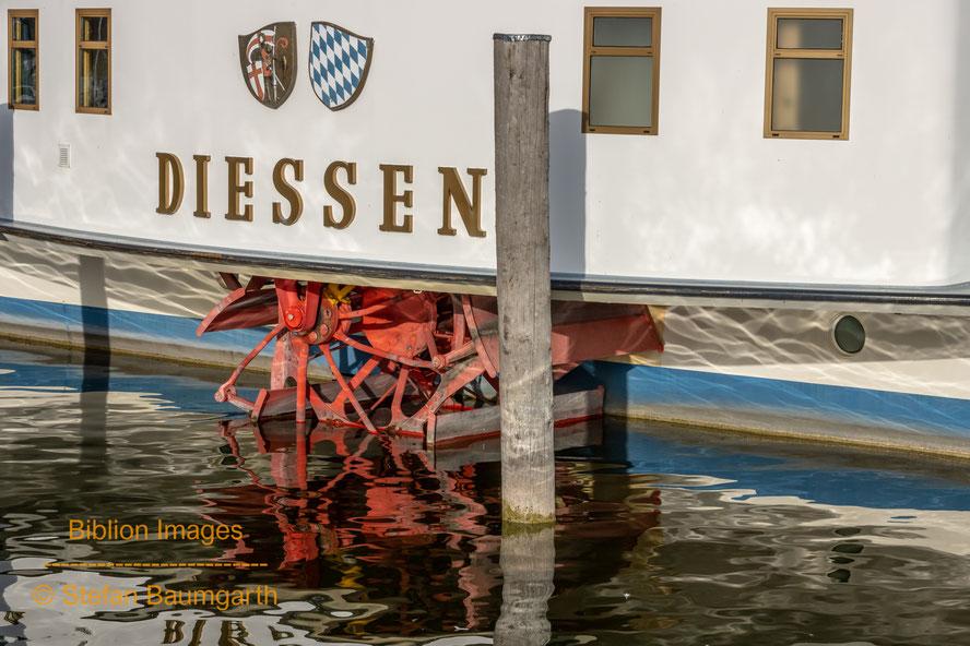 """Die Schaufelräder der RMS """"Diessen"""" auf dem Ammersee bei München. (Foto: Stefan Baumgarth . Biblion Images)"""