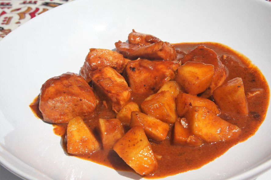 Pollo al curry en Turbo Cecofry 4D
