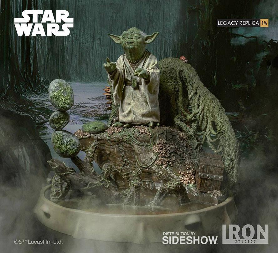 Yoda 1/4 Legacy Replica Star Wars Episode V Dagobah 30cm Statue Diorama Iron Studios IS903786