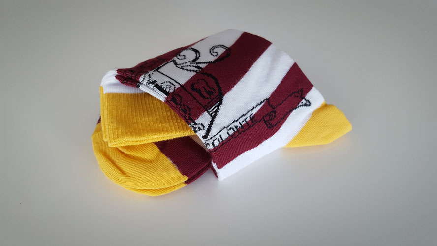 Gepersonaliseerde sokken met eigen logo peronaliseren