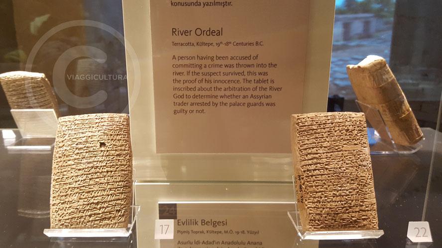 Tavoletta della prova dell'acqua (n.22), XIX sec. a.C. - Kültepe - Kanesh (Museo delle Civiltà Anatoliche - Ankara)