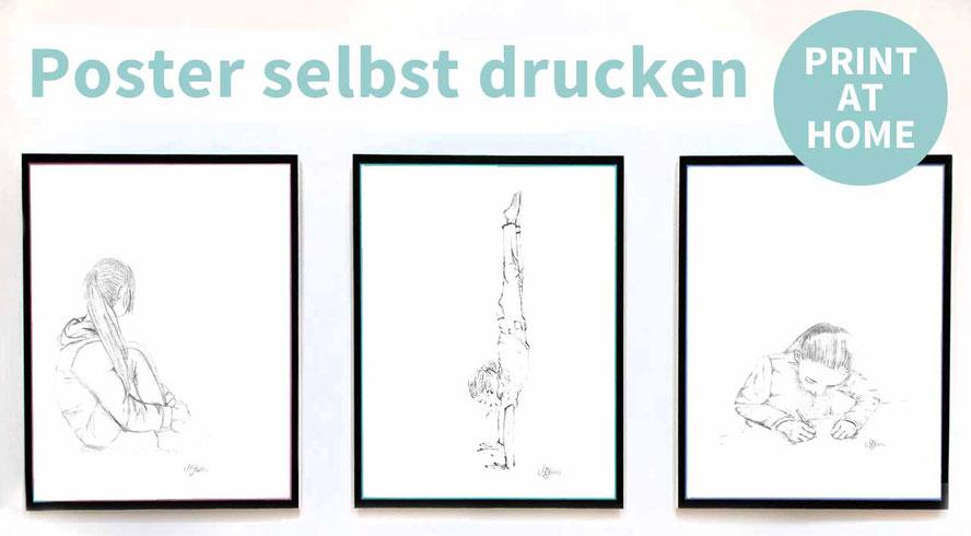 Wandbild, drucken, Vorlage, Deko, Wohnzimmer, minimalistich, Bleistiftzeichnung, Poster, ausdrucken, Druckvorlage, Lineart, selbst basteln,  Deko
