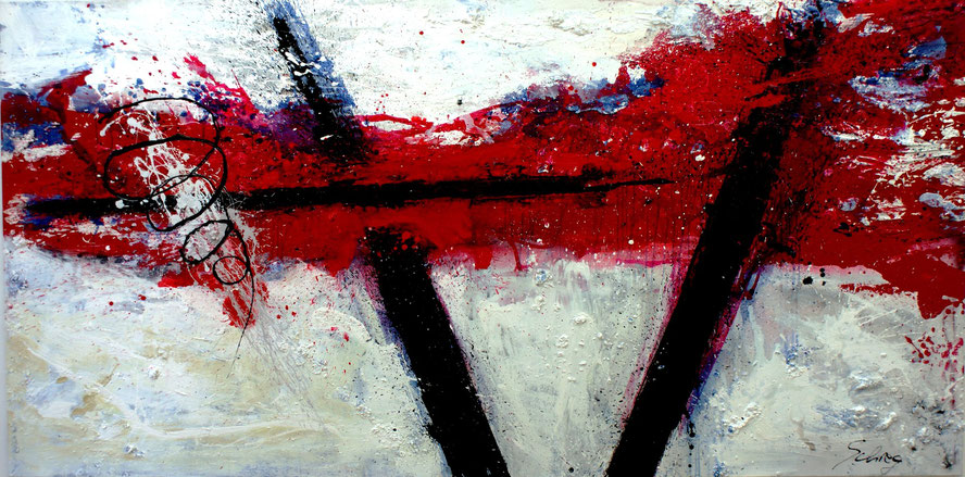 """""""die durchquerung der visionen"""" 150x300 Acryl auf Leinwand 2009"""