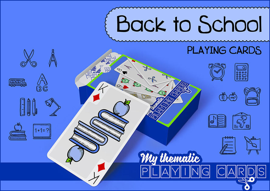 Back to School Themed Playing Cards Deck - www.my-thematic-playing-cards.com