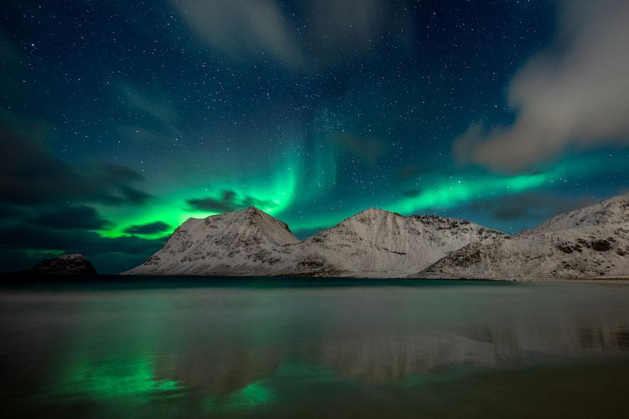 Nordlicht Polarlicht Aurora Borealis Lofoten Norwegen wie fotografieren
