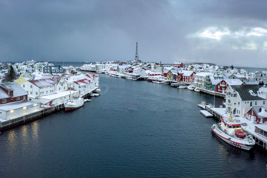 Henningsær im Winter Drohne DJI