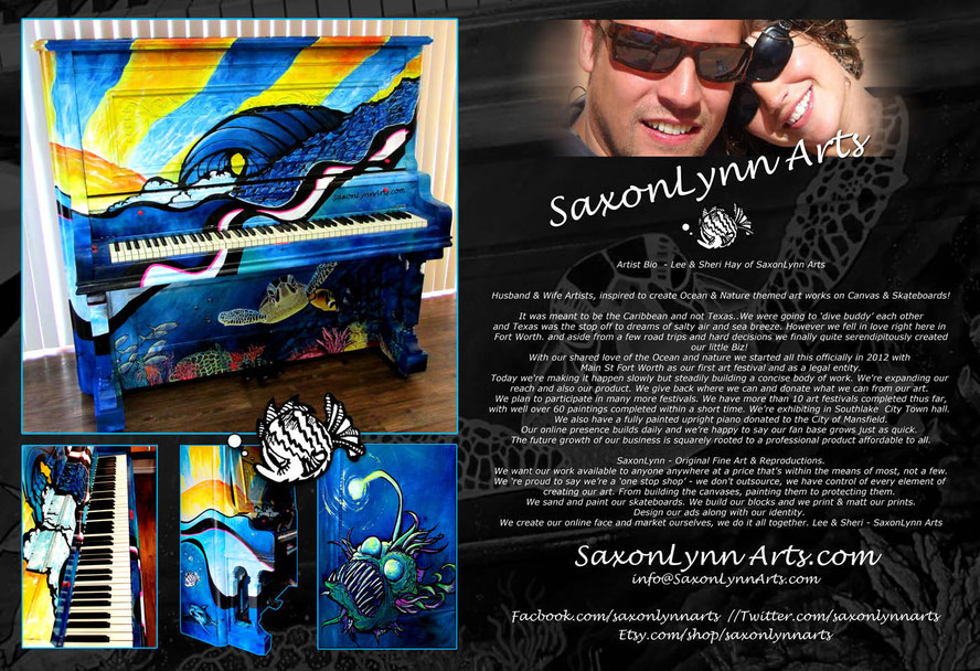 Saxonlynn Arts about us Biography and piano mural