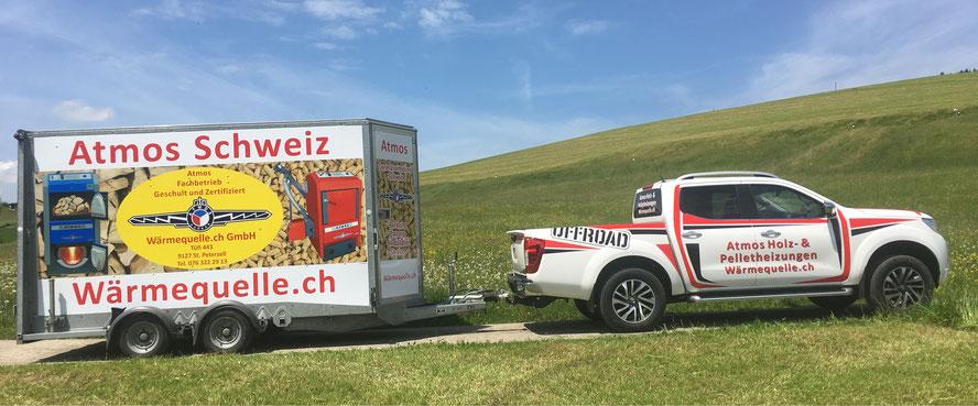 Atmos Generalvertretung Schweiz Firmenfahrzeug