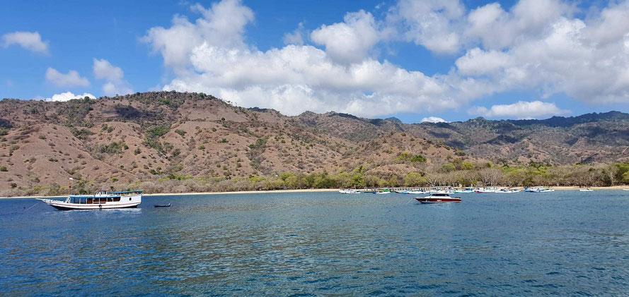 mit dem Tenderboot ans Ufer