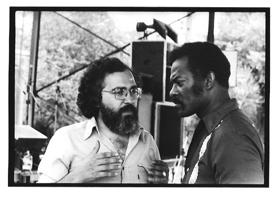 Jimmy avec André Fanelli à Draguignan en 1977. Photo Nicole Fanelli.