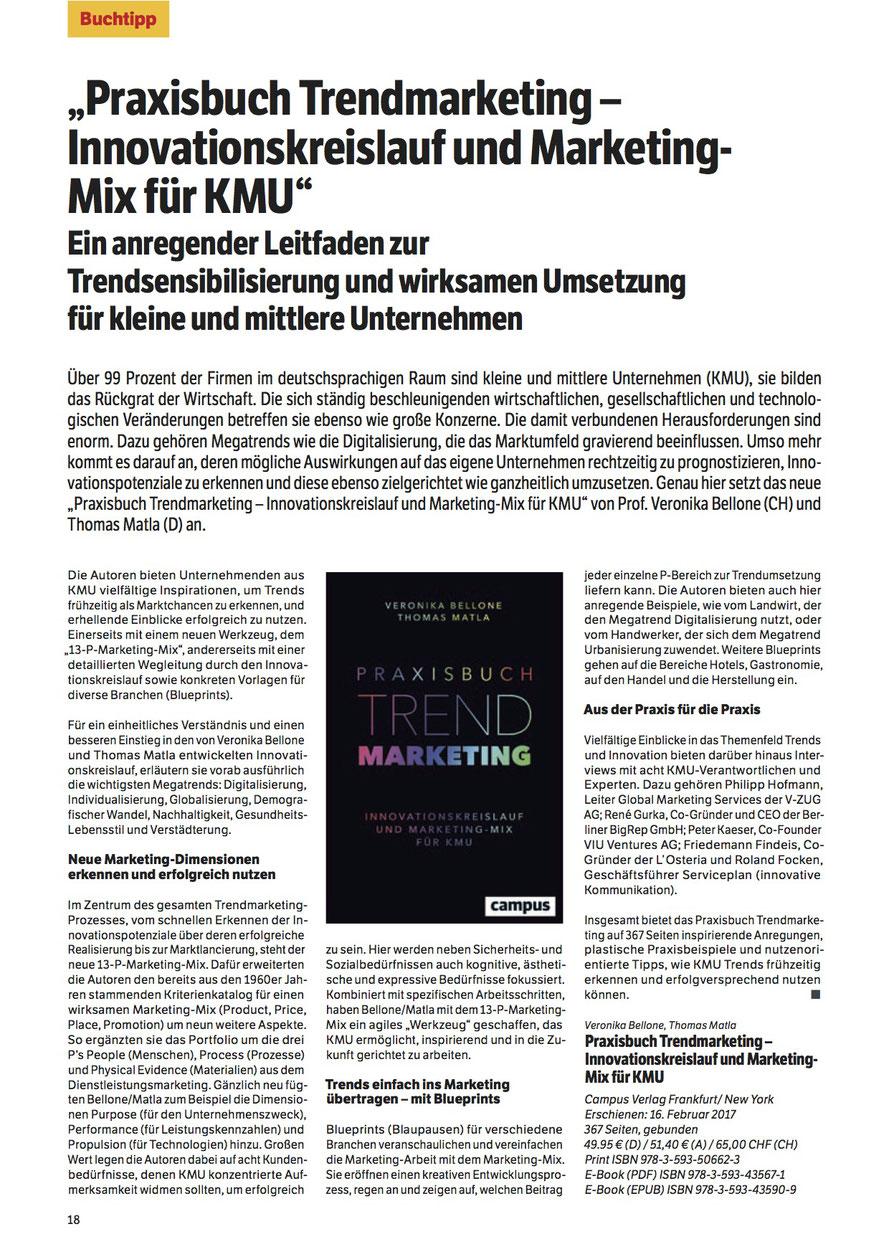Buchbesprechung in der Fachzeitschrift FranchiseERFOLGE Nr. 04/2017