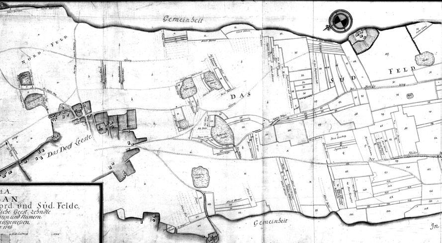 Zehntländereien bei Leeste, 1746, Zeichner: Balsleben  11