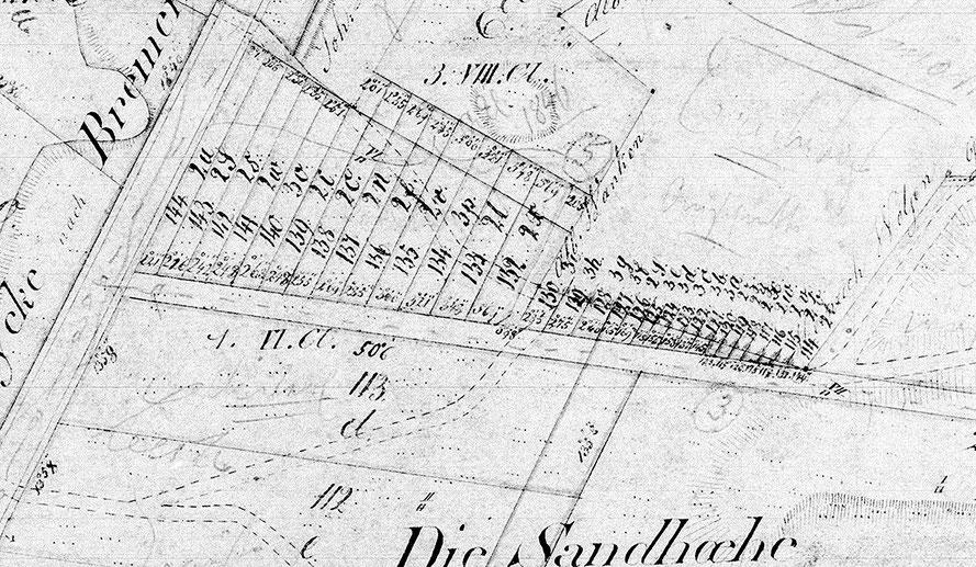 Die Zehntstücke auf der Hördener Sandhöhe: Aufgeteilt an die Erichshofer Erbenzinsstellen (Original)