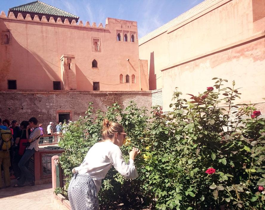 Kurz innehalten und an Blumen schnuppern bei den Saadier-Gräbern. ;)