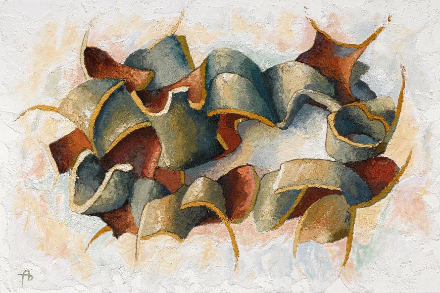 Der Zerbrochene Krug VIII - Öl mit Sand auf Leinwand - 80 x 120 cm