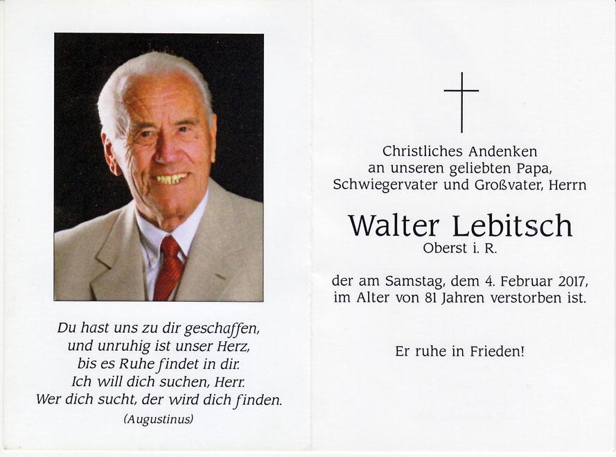 Kamerad Oberst i. R. Walter Lebitsch