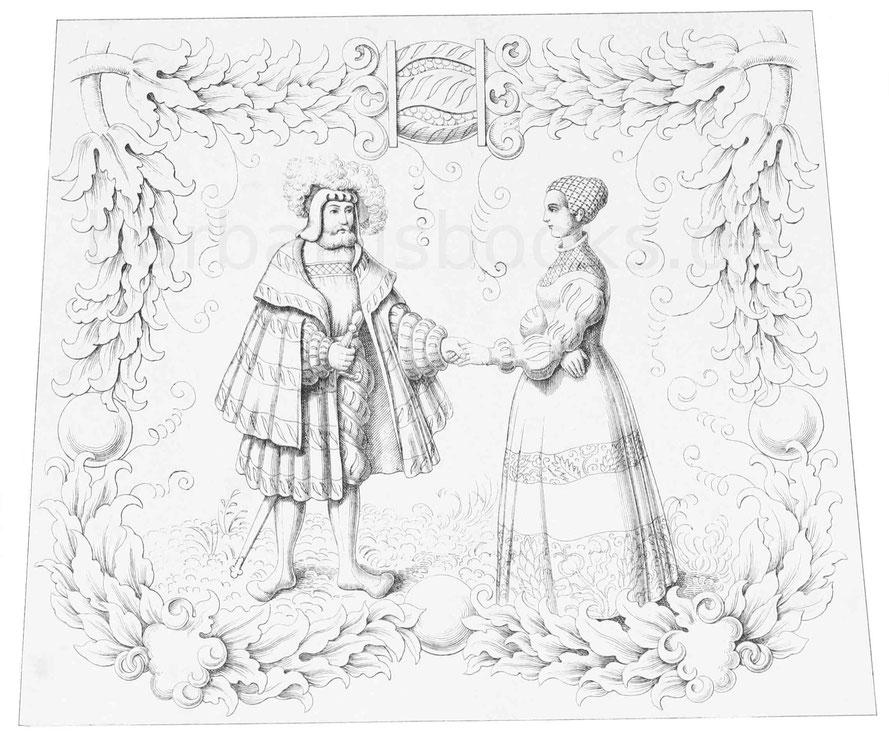 Die Gravierung auf dem Rücken des in voriger Tafel beschriebenen Harnisches