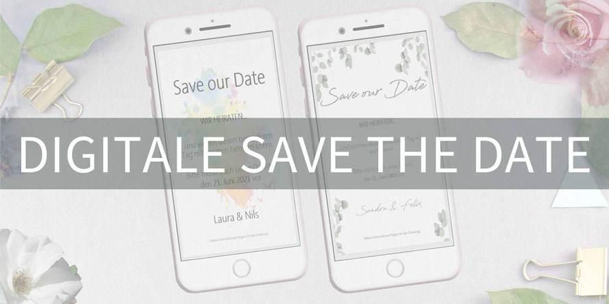 Save the date, digitale, Handy, selber machen, Vorlage, Whatsapp, elektronische, Hochzeit ankündigen, Hochzeitskarte, Druckvorlage, basteln