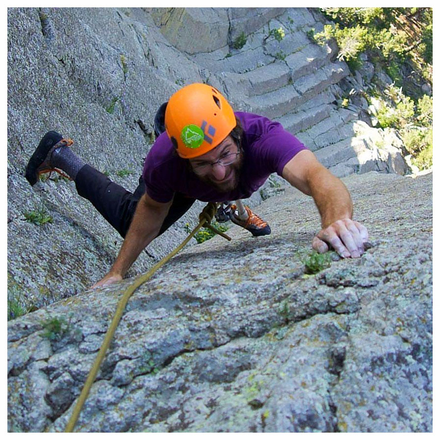 Dave, a passionate rock climber, lives for the great outdoors (picture courtesy of Dave Klar)