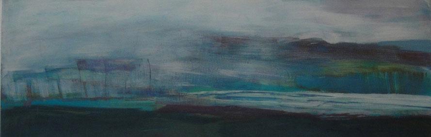 Landschaft      Eitempera auf Leinwand   40 x 120 cm