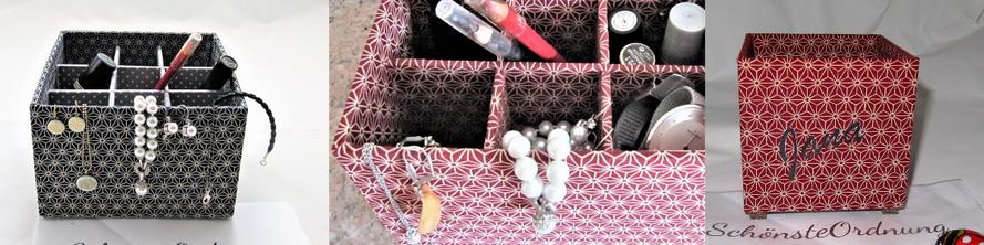 stabile Aufbewahrungsboxen für Stifte, Schmuck, Bastelwerkzeug, Kosmetik