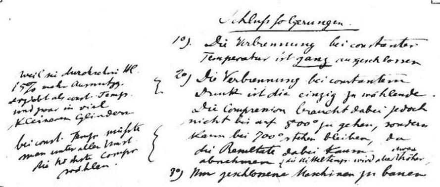 Bild 8: Schriftprobe von Rudolf Diesel im Alter von 25  1/2 Jahren
